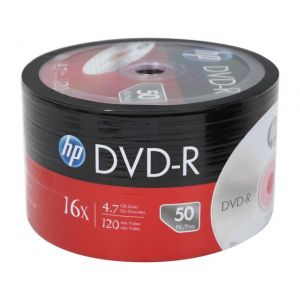 HP DVD-R 4.7GB 120MIN 1-16X 50Lİ SHRINK